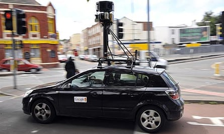 A Google mapping car in of Bedminster, UK