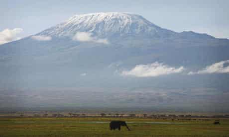 Snow Melts On Mount Kilimanjaro