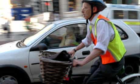 Bike blog: a car overtaking a cyclist