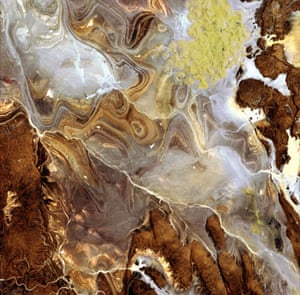 Satelitte eye on earth: Tanezrouft Basin, Sahara desert,  Algeria