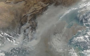 Satelitte eye on earth: Thick haze and fog settled over much of China