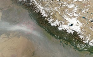 Satelitte eye on earth: Haze over northwest India