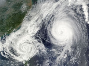 Satelitte eye on earth: Super Typhoon Parma and Super Typhoon Melor over Philippines