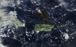 Satelitte eye on earth: explosion rocked fuel storage tank, Puerto Rico