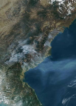 Satelitte eye on earth: Multiple fires burned in North Korea