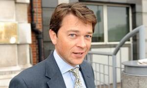 Tim Nicholson leaving an employment tribunal at Audit House, London