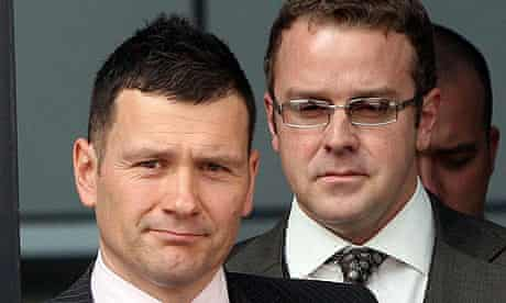 PC Mark Jones, left, and PC Neil Brown