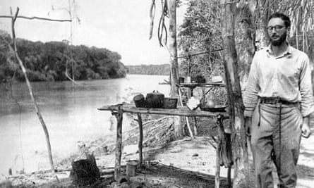 French anthropologist Claude Levi-Strauss (n1908) in Amazonia in Brazil c. 1936