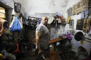 Eyewitness: Jenin, West Bank, 22 October 2009: Muhammad Shuhadeh, 70, in his gym