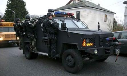 Seattle police department Swat team officers