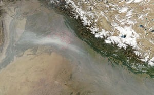 Satellite Eye on Earth: Haze due to fires in northwest India