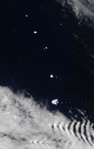 Satellite Eye on Earth: The South Sandwich Islands are located in the South Atlantic Ocean