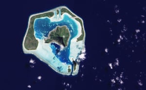 Satellite Eye on Earth: Maupiti Island sits in the South Pacific Ocean, west of Bora Bora