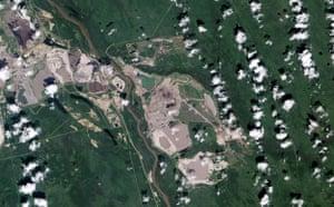 Satellite Eye on Earth: Canada Alberta's oil sand fields : Athabasca