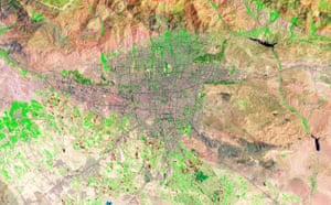 Satellite Eye on Earth: Tehran, Iran's capital