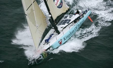 Race yacht Kingdom of Bahrain by Team Pindar sails  at an unknown location