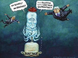 4.11.2009: Steve Bell on David Cameron to shed 'cast iron' pledge on Lisbon treaty