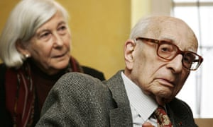 Claude Levi-Strauss with his wife, Monique