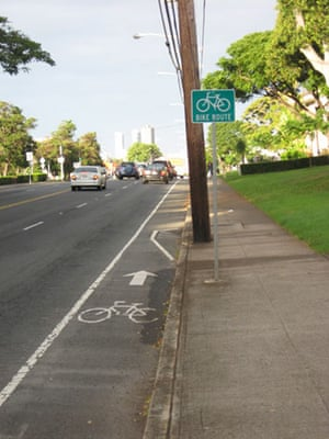 Worst Cycle Lane: Dole St, Honolulu