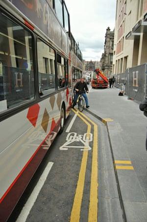 Worst Cycle Lane: Edinburgh: Model Cycling City