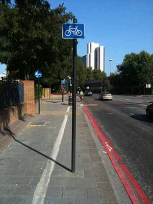 Worst Cycle Lane: London cycle lanes at its best