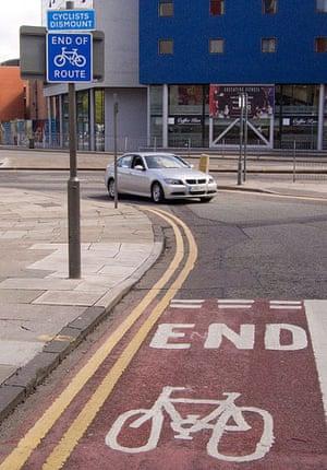 Worst Cycle Lane: End of cycle lane