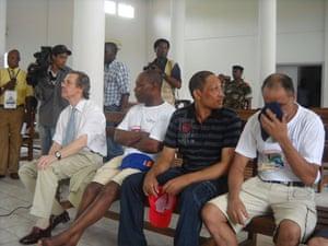Simon Mann: Simon Mann at pardon ceremony in Malabo, Equatorial Guinea