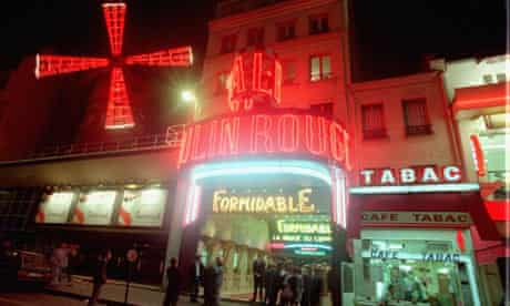 The Moulin Rouge in Paris's Pigalle district