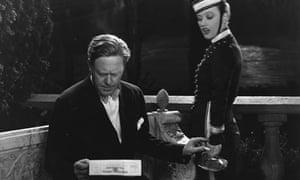 Bad news? Director Robert Z Leonard receives a telegram in 1930.