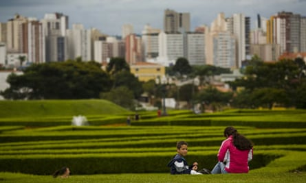View of the botanical gardens in the city of Curitiba, Brazil