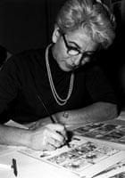 Tintin colourist Josette Baujot in 1958