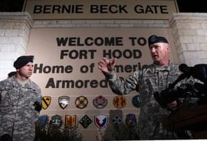 fort hood shooting: Lt. Gen. Bob Cone speaks to the media in Fort Hood