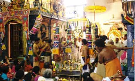 A scene from Highgate Hill Murugan Hindu temple