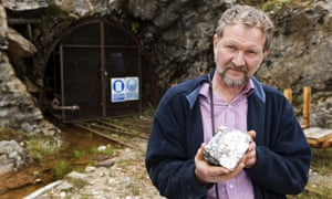 Chris Sangster, Scotgold's chief executive at the Cononish Scottish gold mine