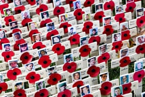 Eyewitness: A plot of crosses and poppies in the Westminster field of remembrance