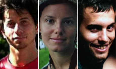 Josh Fattal, Sarah Shourd and Shane Bauer charged with espionage in Iran.