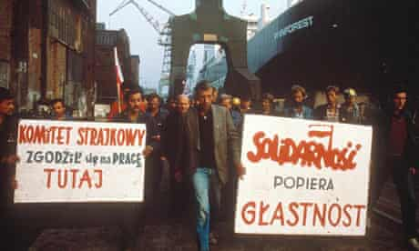 Strikes and demonstations in the Gdansk shipyard in 1988