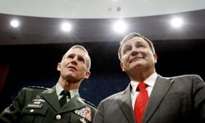 Gen Stanley McChrystal and US diplomat Karl Eikenberry appear together  at the House armed services committee.