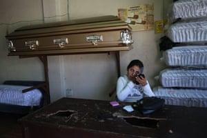 Guatemala morticians: Glendy Maldonado, an embalmer and assistant at Valle del Sol funeral home