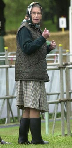 Queen Elizabeth II: 2002: Queen Elizabeth II  watches the Duke of Edinburgh
