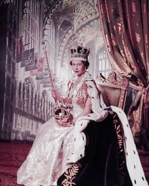 Queen Elizabeth II: 1953: Queen Elizabeth II poses with her royal crown