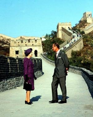 Queen Elizabeth II: 1986: Britain's Queen Elizabeth II and her husband, the Duke of Edinburgh