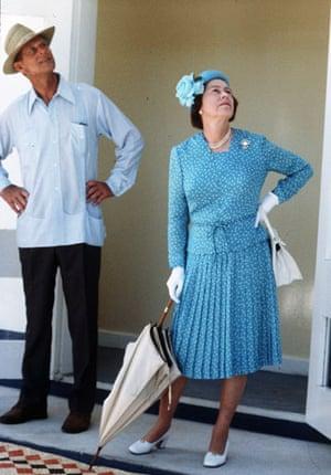 Queen Elizabeth II: 1982: Queen Elizabeth and Prince Philip visit the Solomon Islands