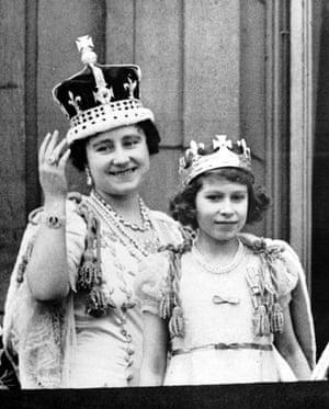 Queen Elizabeth II: 1937: Queen Elizabeth (later the Queen Mother) with Princess Elizabeth
