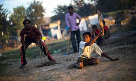 Bhopal teenager Sachin Kumar, whose legs were affected by a birth defect, plays cricket