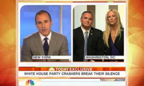 Tareq and Michaele Salahi interviewed by Today show host Matt Lauer.
