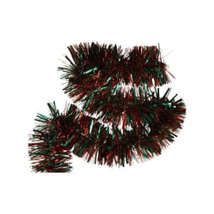 Christmas decorations: House of Fraser tinsel