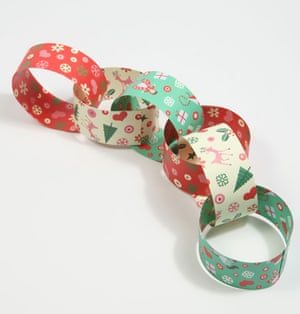 Christmas decorations: Urban Outfitters paper chains
