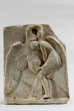 eros exhibition: Erotic encounter of Leda and Zeus transformed into a swan