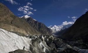 Hopar glacier in the central Hunza region, Pakistan